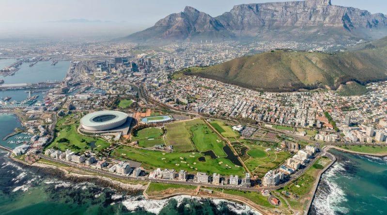 Kaapstad vanuit de helikopter